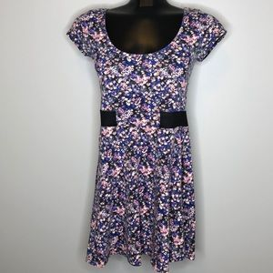 American Eagle romantic floral fit & flare dress S
